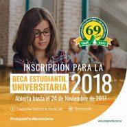 Becas Estudiantiles 2018